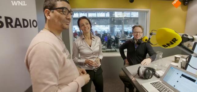 Jörgen Raymann, Eugenie van Wiechen en Wim de Natris in de radiostudie van BNR Nieuwsradio -23 oktober 2018